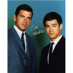 Van Williams Signed Photo with Bruce Lee from The Green Hornet