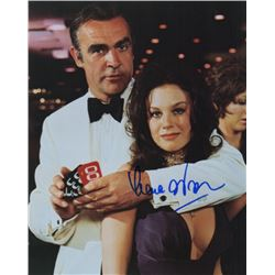 Lana Wood Signed Photo as Plenty O'Toole with Sean Connery in Diamonds are Forever