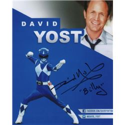David Yost Signed Photo as the Blue Ranger from Mighty Morphin Power Rangers