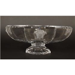 Versace Rosenthal Crystal Medusa Centerpiece Bowl