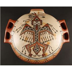 Navajo Polychrome Handled Pot
