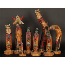 Collection of 8 Hopi Kachinas