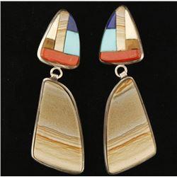 Pair of Navajo Artistry Made Dangle Earrings