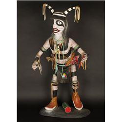 Large Handcarved Clown Dancer Kachina