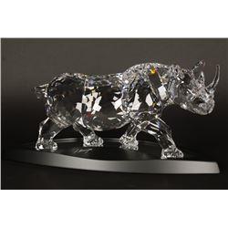 Impressive Swarovski Crystal Rhino