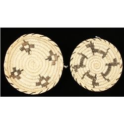 Collection of 2 Papago Basketry Trays