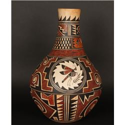 "Beautiful Polychrome Pot Entitled ""Insects"""
