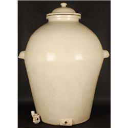 Huge Antique 1882 dated Lidded Pot