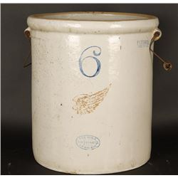 Antique Red Wing #6 Crock