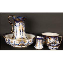 Beautiful English Porcelain Vanity Set