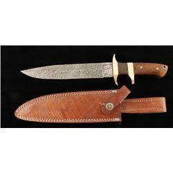 Damascus Steel Combat Fighting Knife