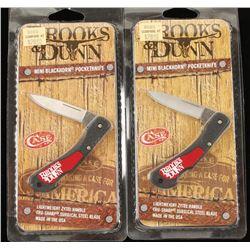 2 Case Knives Brooks & Dunn Mini Blackhorn