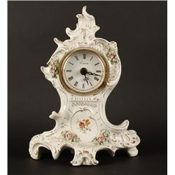 English Porcelain Mantle Clock