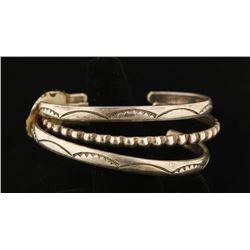 3 Navajo Sterling Cuff Bracelets