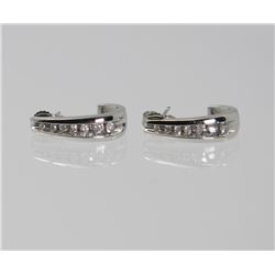 Pair of Classic Diamond Earrings