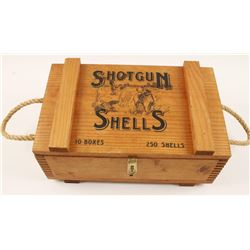 Wooden Shotgun Shell Box