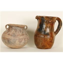 Pre-Columbian Bowl & Pitcher