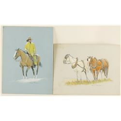 Collection of 2 Watercolors by Robert Wagoner