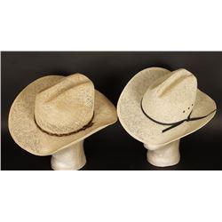 Lot of 2 Straw Cowboy Hats