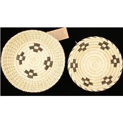 2 Tohono O'odham Basketry Trays