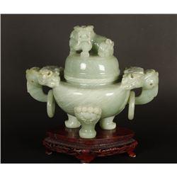 Chinese Carved Jade Jar