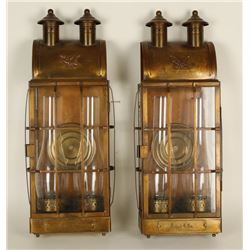 Pair of Copper Wall Hanging Lamps