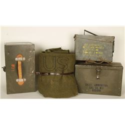 3 Ammo Cans and Military Blanket