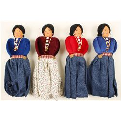 Collection of 4 Native American Dolls