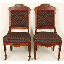 Pair of Victorian East Lake Chairs
