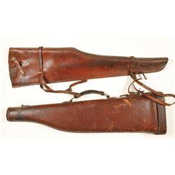 Lot of 2 Gun Scabbards