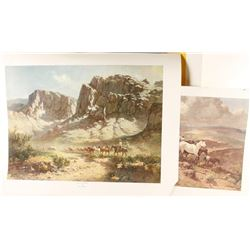 2 Fine Art Prints by Olaf Wieghorst