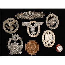 Repro German WWII Luftwaffe Badge Display