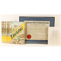 Arizona Historical Document Lot.