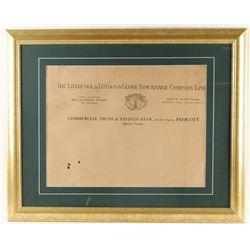 Large Insurance Copy 1917 Prescott