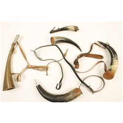 Collection of 4 Powder Horns