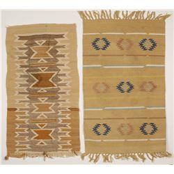 Two Small Tan New Mexico Style Textiles