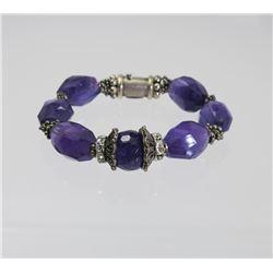 Beautiful ROCKE Designer Amethyst Beaded Bracelet