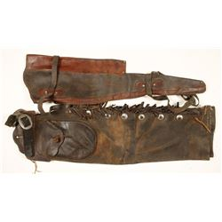 Leather Chaps and Rifle Scabbard