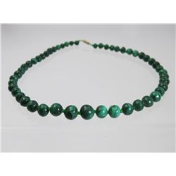 Forest Green Malachite Beaded Necklace