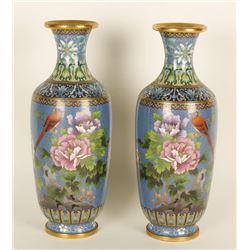 Lot of 2 Cloisonne Vases