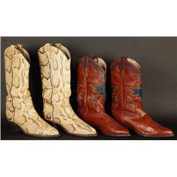 Two Pairs of Tony Lama Boots