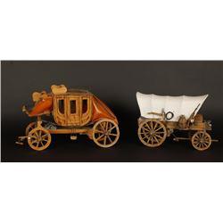 2 Wooden Miniatures
