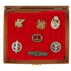 Repro WWII German Medals in Display Case