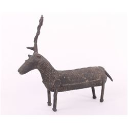 Pre-Columbian metal elk burial fetish.  Condition