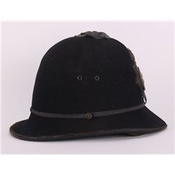 Cheshire Constabulary bobby helmet, England, mid 19th