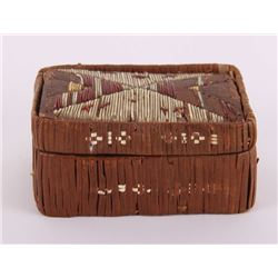 19th Century, Native American porcupine needle box.