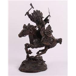"Buck McCain (1943) bronze  ""Plains Warrior"" - Astride"