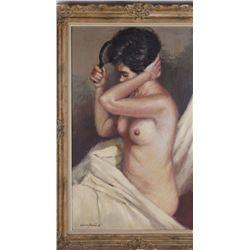 Juan Valera Montoro (1923-), original painting from mid