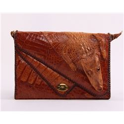 Mid 20th Century Cuban era alligator tote bag purse.