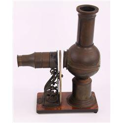 Antique Magic Lantern kerosene lamp projector with